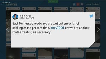 Traffic stays steady despite early snow in East Tennessee