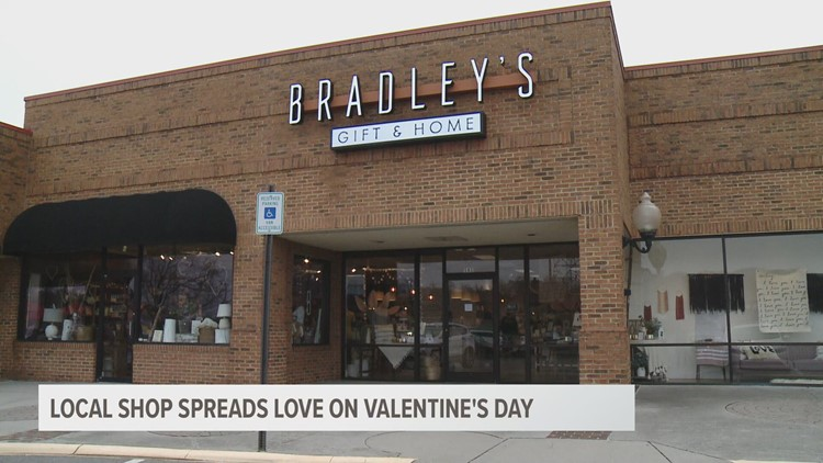 Local shop spreads love on Valentine's Day