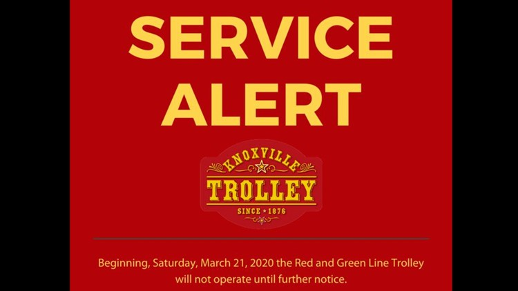 KAT suspended downtown trolley service March 20.