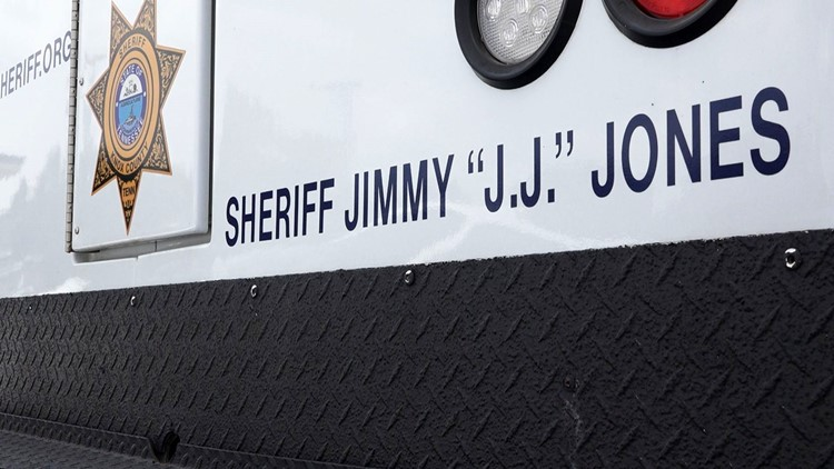 "Decals with ""Sheriff Jimmy 'J.J.' Jones"" will have to be removed from vehicles as part of the new elected official transition."