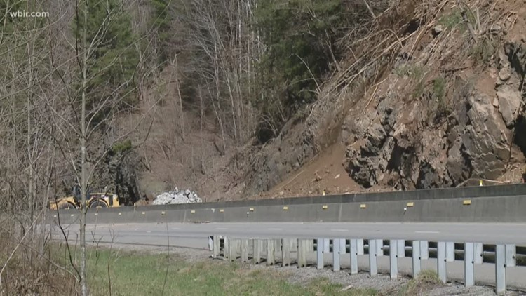 Crews work to reopen I-40 after rockslide near Tennessee/North Carolina  state line