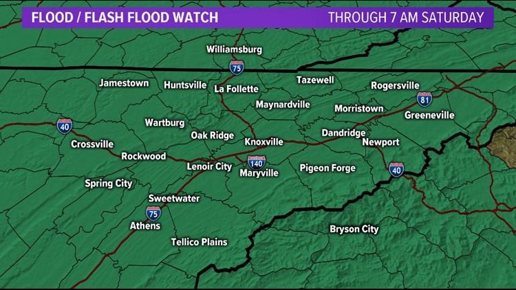 Flood Watch in effect through 7 AM Saturday