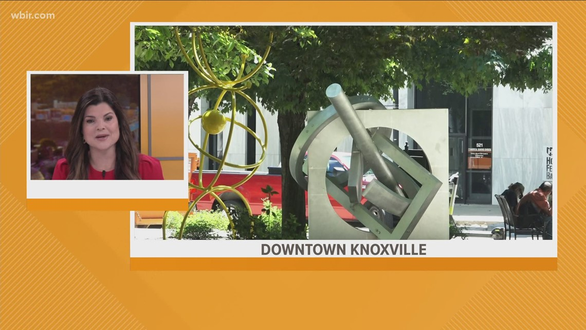 New art in downtown Knoxville go up in Krutch Park