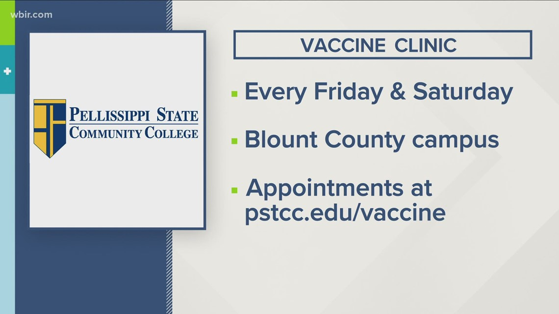 Vaccine opportunities across East Tennessee over the weekend