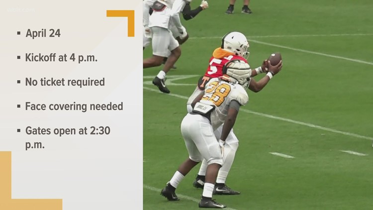 Vols' Orange and White game returns on April 24