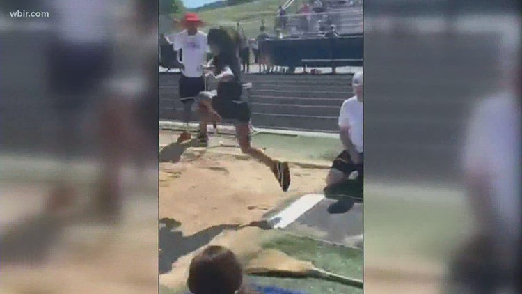 Olympic Hopefuls: Knoxville girl shows off her skills in the long jump!