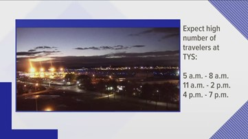 McGhee Tyson Airport expects increase in travelers Sunday