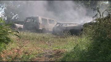 18 vehicles burned at Blount Co. salvage lot