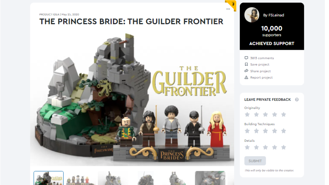LEGO to consider Maryville teen's design for 'The Princess Bride' set