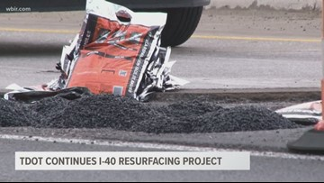 TDOT continues I-40 resurfacing project