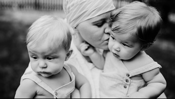 'They saved my life' || Mother of twins credits them for discovering breast cancer