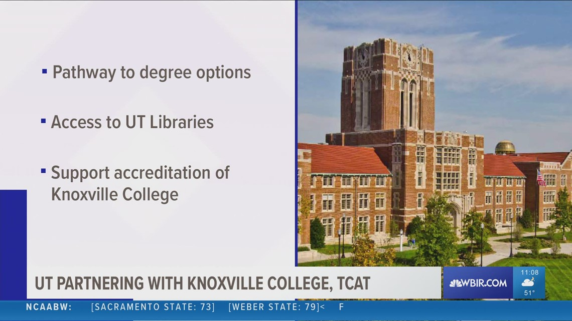 University of Tennessee partnering with Knoxville College and TCAT