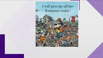 Cartoon artist inspired by Tennessee tornado relief