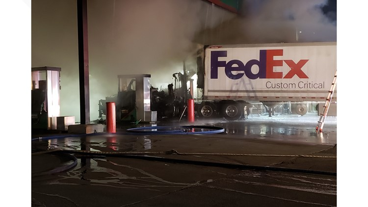 Tractor trailer fire1