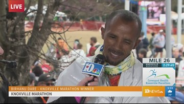 """Tough course"": Birhanu Dares talks after winning 2019 Covenant Health Knoxville Marathon"