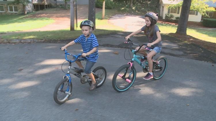 Valor and Bella Rivera ride bicycles