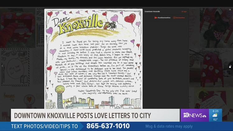 Downtown Knoxville posts love letters to city
