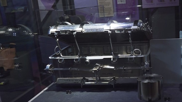 "The ""moon box"" made at Y-12 for the Apollo space program, on display at the American Museum of Science and Energy in Oak Ridge"