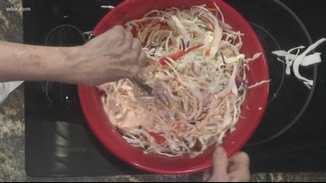 Taco seasoning spices up a typical slaw recipe