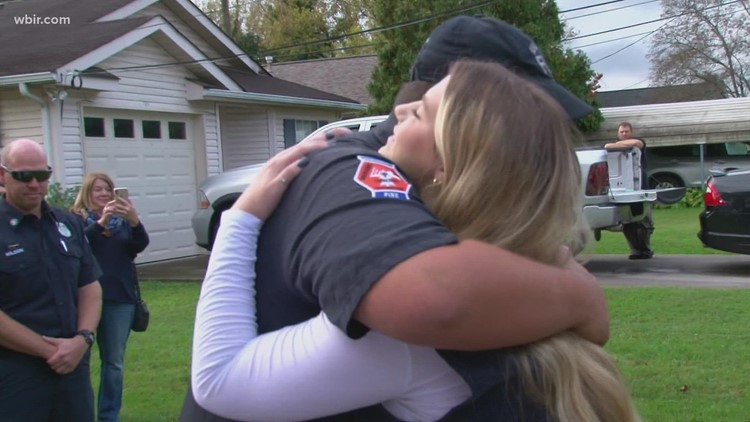 Knox County woman joins mayor to honor rescue officers who saved her life