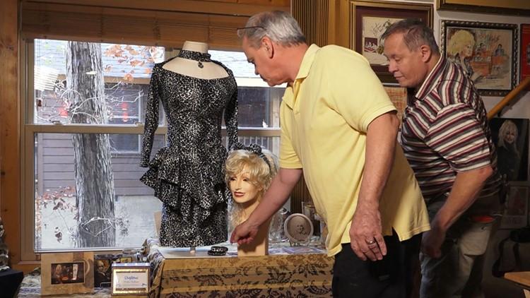 Harrell Gabehart and Patric Parkey Dolly Parton Superfans Dress