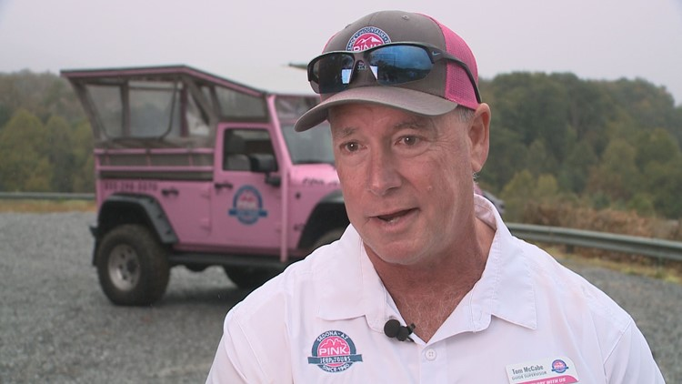 Tom McCabe supervises the tour guides at Pink Jeep Tours