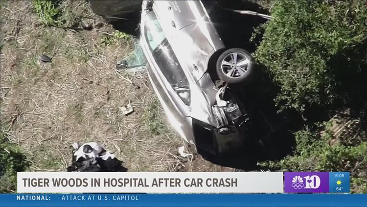 Tiger Woods in hospital after car crash