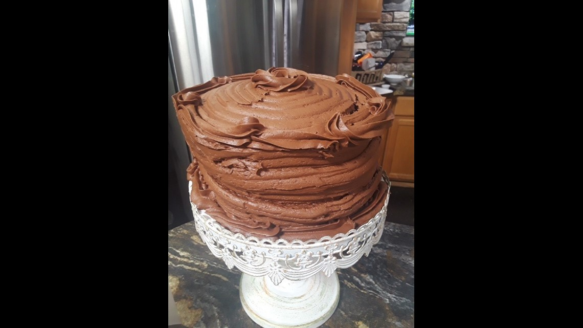 It doesn't get richer than this homemade chocolate cake!
