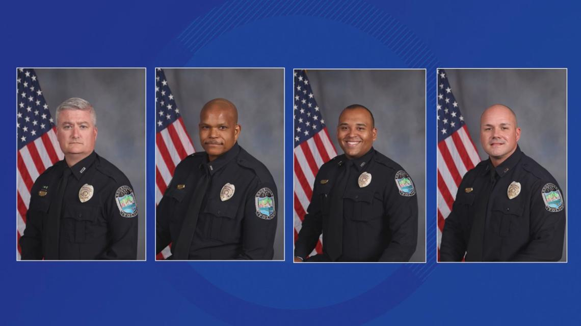 Here's what KPD personnel files reveal about the four officers involved in Austin-East HS shooting