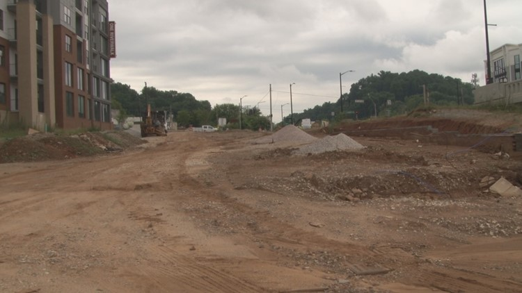 South Knoxville Riverwalk Construction on Blount Avenue