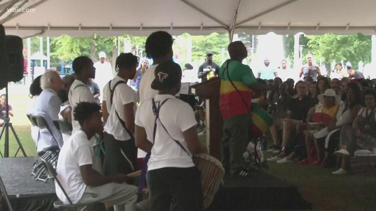 Juneteenth celebration kicks off in World's Fair Park