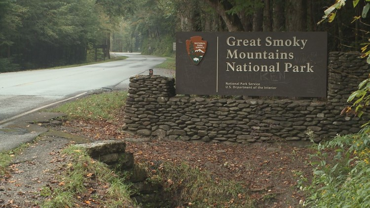The Great Smoky Mountains National Park said U.S. Highway 441 Newfound Gap Road between Gatlinburg, Tenn. and Cherokee, N.C. is closed Sunday night.