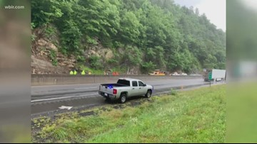One lane of I-40W reopens after NC rockslide
