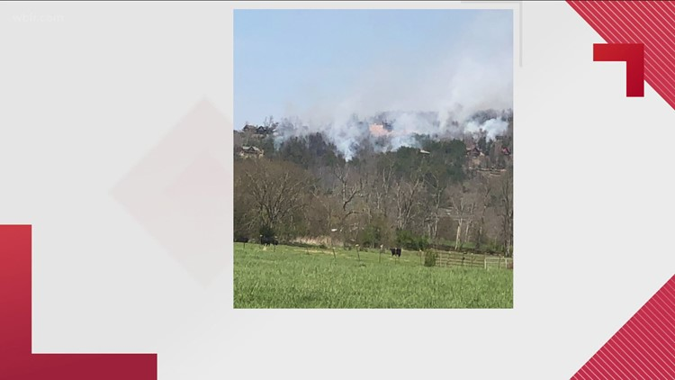 Crews on scene of brush fire in Sevier Co.