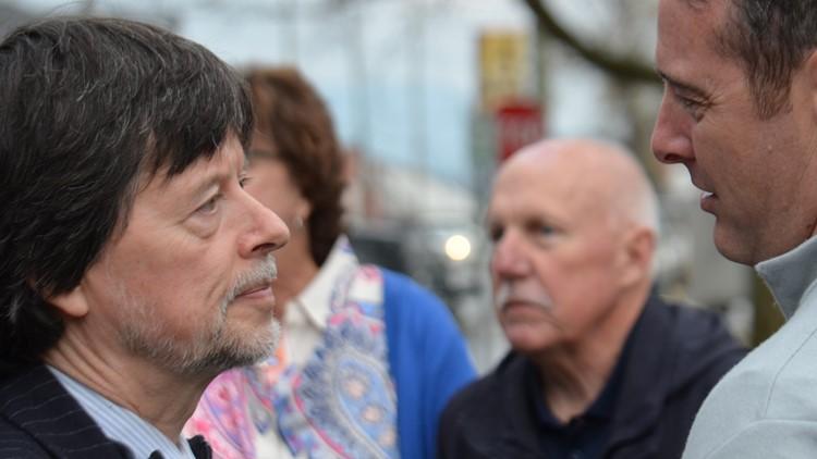 Filmmaker Ken Burns during a stop in Sevierville in March.