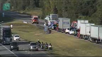 I-75 Northbound reopened to traffic after tanker and semi