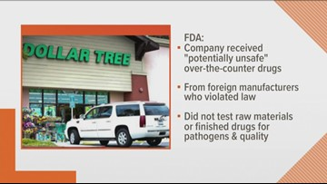 FDA warns to Dollar Tree for receiving 'potentially unsafe drugs'