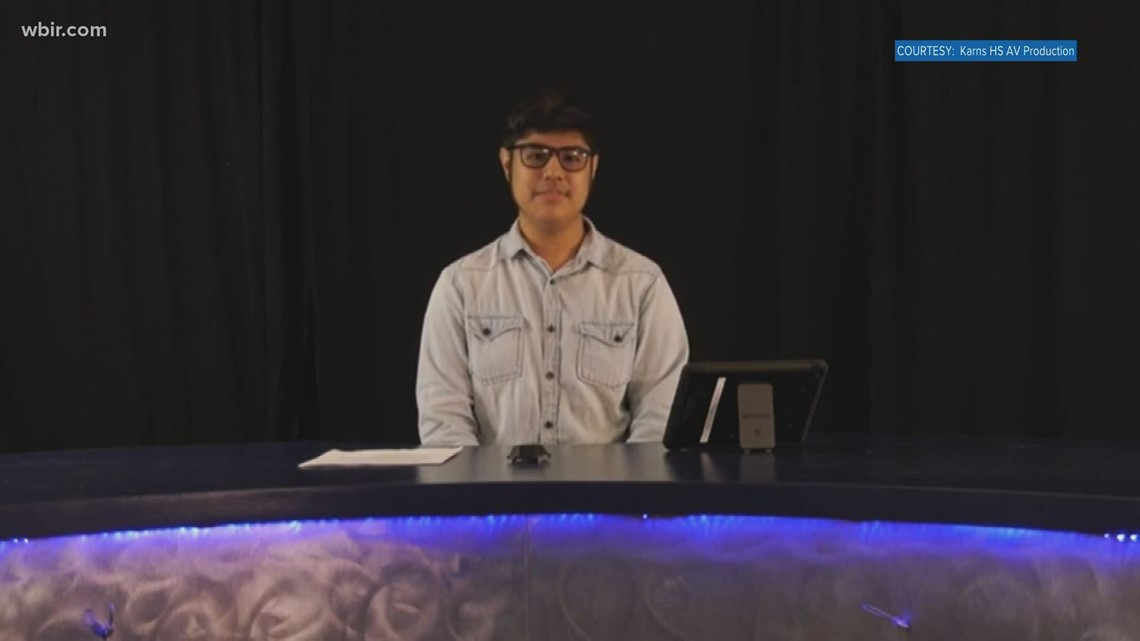 Karns High Students record show for students career fair