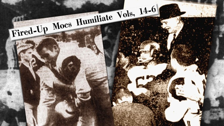 Fired Up Mocs Humiliate Vols 14-6 1958 Tennessee Chattanooga