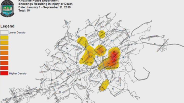 KPD shooting Heat Map