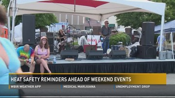 Heat safety reminders ahead of weekend events