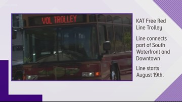 KAT offering free Red Line trolley route