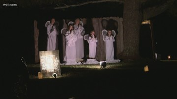 Logan Chapel celebrates Christmas with drive-thru nativity scene