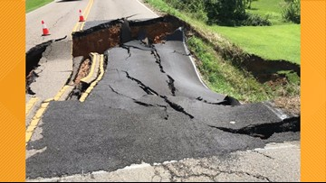 Sinkhole closes part of Lakeshore Dr. in Grainger County