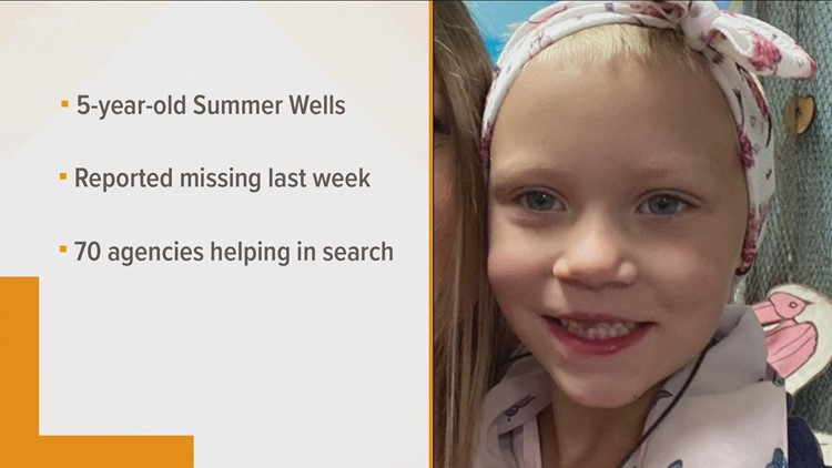 One week since 5-year-old Summer Wells disappeared