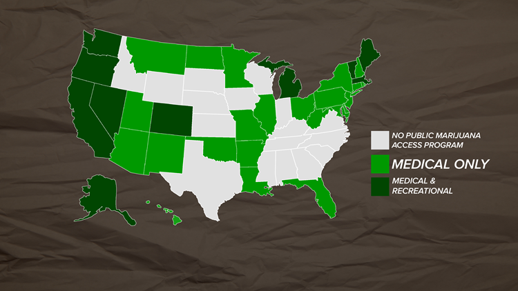 Marijuana legalization map 2019