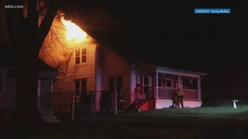 North Knoxville home catches fire