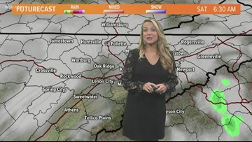 Showers and thunderstorms possible throughout the afternoon