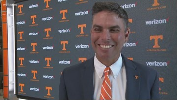 Brennan Webb introduced as UT golf coach