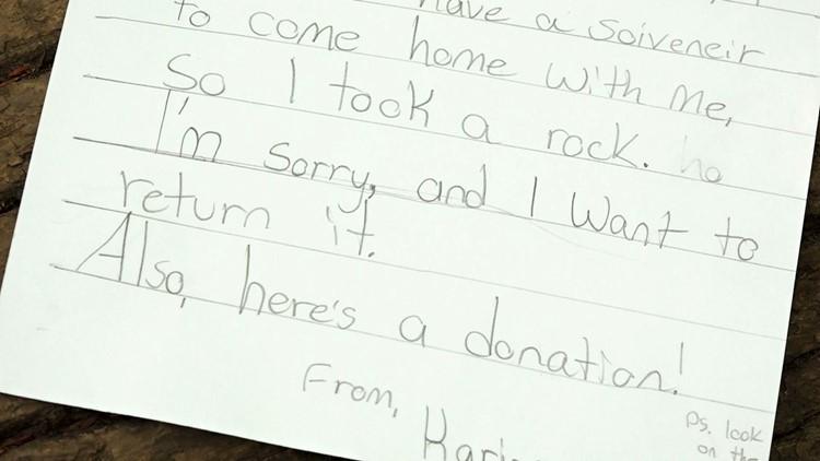 Karina Letter Great Smoky Mountains GSMNP Returned Rock